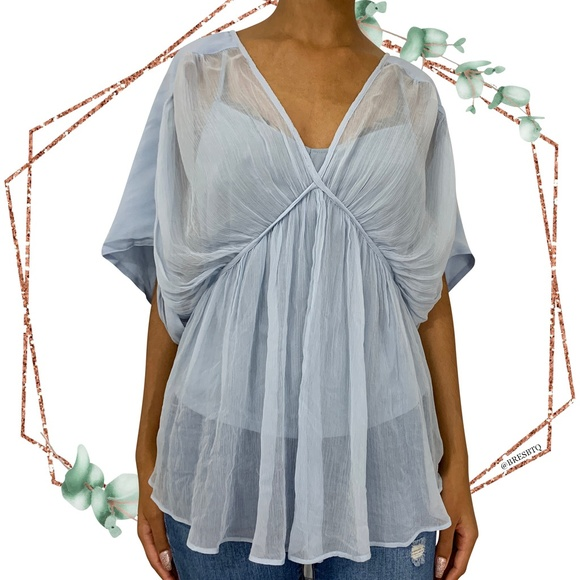 Anthropologie Tops - NWT Anthro Floreat Olia draped chiffon blouse sz L